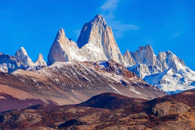 Montagna di fitz roy, patagonia