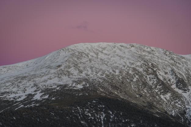 Montagne al tramonto