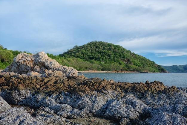 Montagne e rocce costiere di giorno.