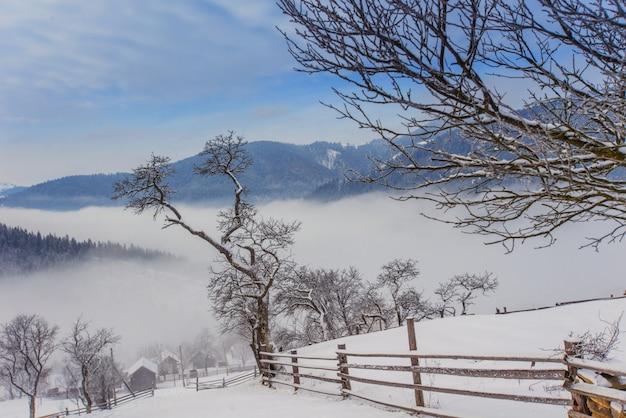 Montagne invernali dei carpazi