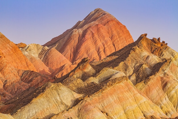 Montagne variopinte dell'arenaria in cina