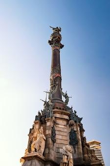 Monumento a colombo a barcellona