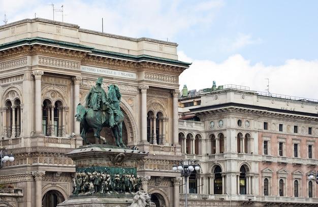Monumento a vittorio emanuele ii a milano - italia