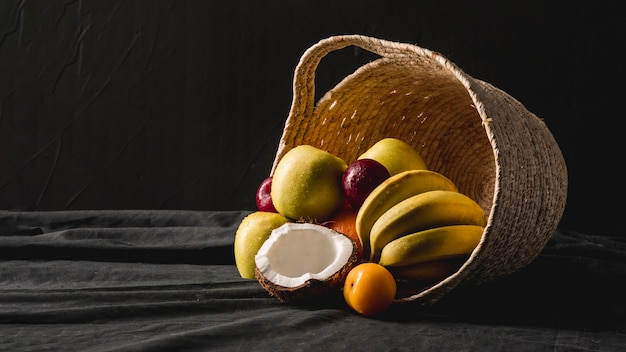 Moody fruit still life