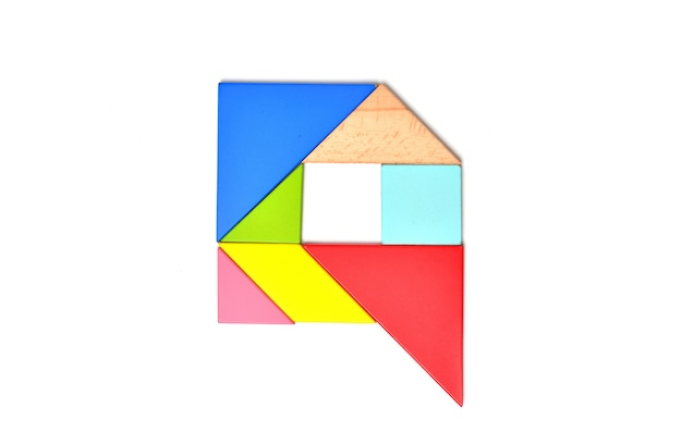 Mosaico di colore alfabeto inglese