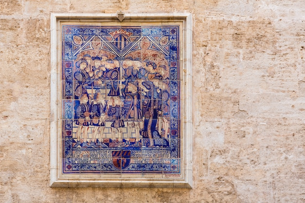 Mosaico di piastrelle di valencia san esteban protomartir spagna