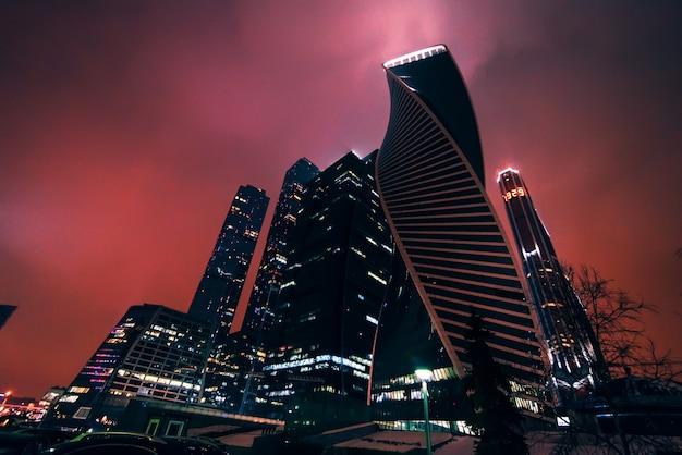 Mosca, russia 25 dicembre 2016: città di mosca, centro internazionale di affari di mosca, russia