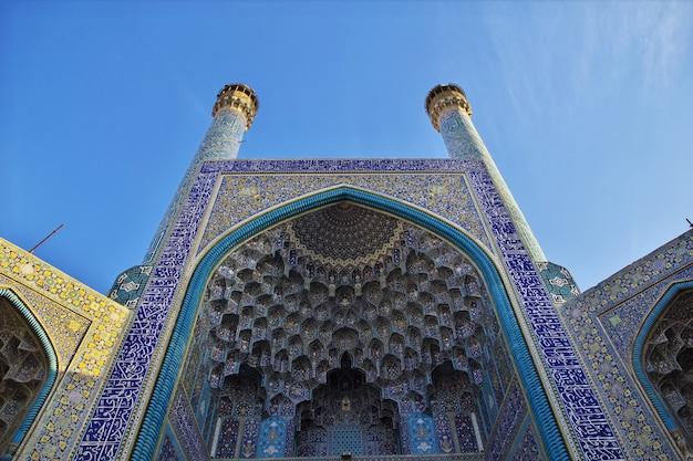 Moschea sulla piazza naqsh-e jahan a isfahan, iran