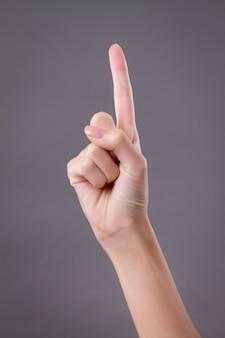 Mostra della mano, gesto della mano numero uno