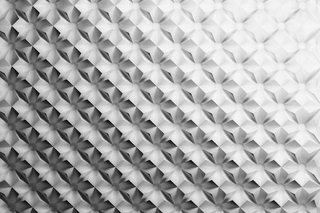 Motivo a triangolo piramidale ripetuto in bianco e nero