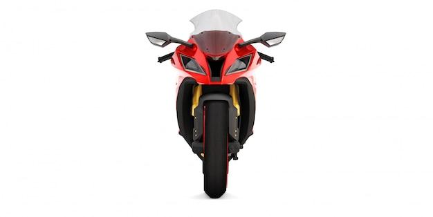 Motocicletta super sportiva rossa 3d