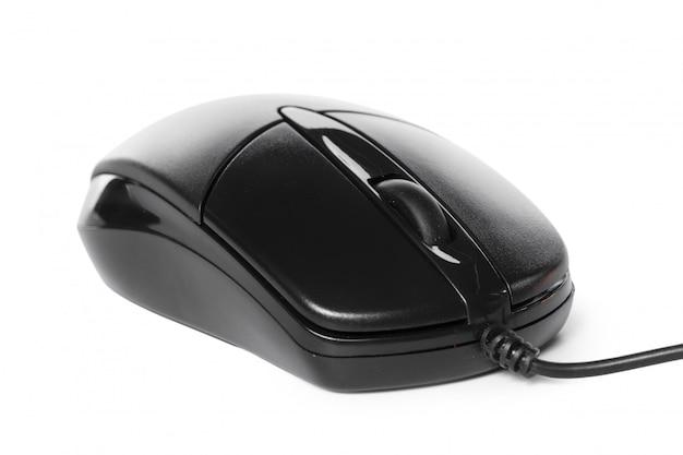 Mouse del computer su sfondo bianco