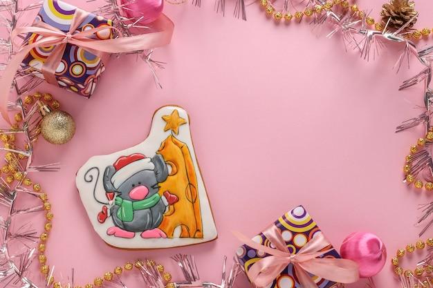 Mouse di pan di zenzero, regali di natale