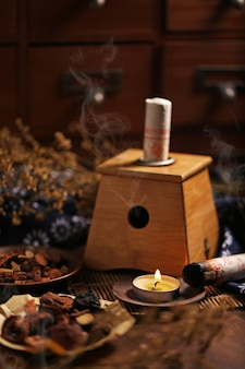 Moxibustion medicina cinese