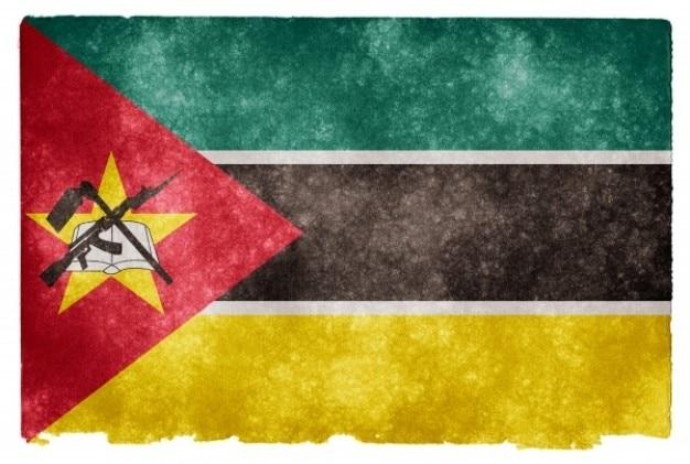 Mozambico grunge flag