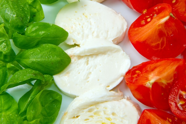 Mozzarella con tomtoes e basilico