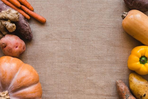 Mucchi di verdure assortite