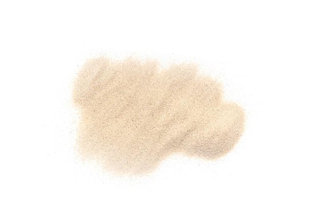 Mucchio bianco della sabbia isolato su bianco