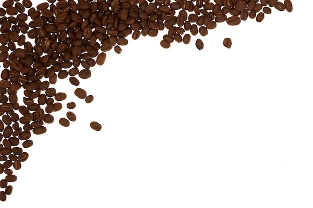 Mucchio di chicchi di caffè bianco