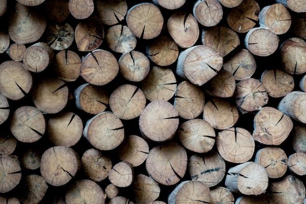 Mucchio di legno di trama.