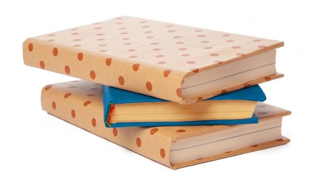 Mucchio di libri isolato