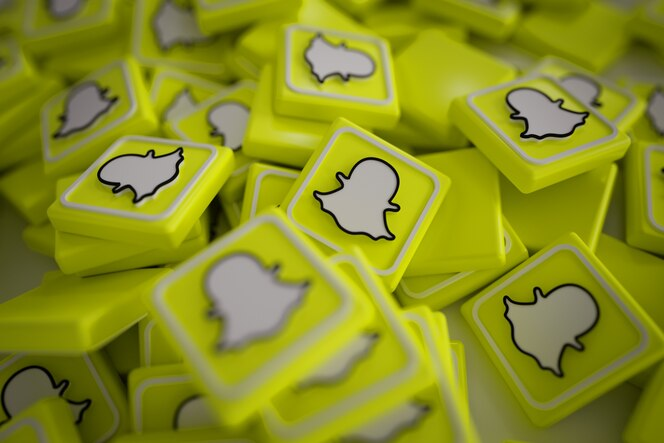 Mucchio di loghi 3d snapchat