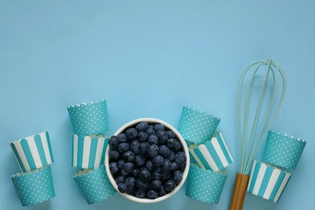 Muffin ai mirtilli. cottura ai frutti di bosco