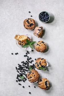 Muffin ai mirtilli fatti in casa