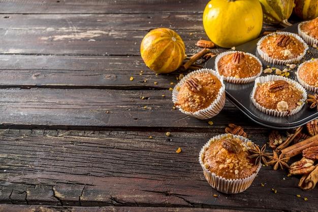 Muffin autunnali fatti in casa alla zucca