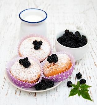Muffin con bacche fresche