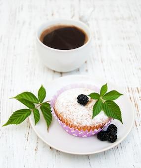 Muffin con more fresche