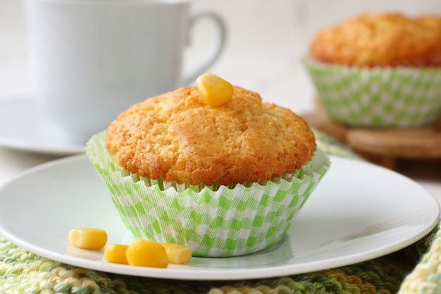 Muffin fatti in casa senza glutine con farina di mais
