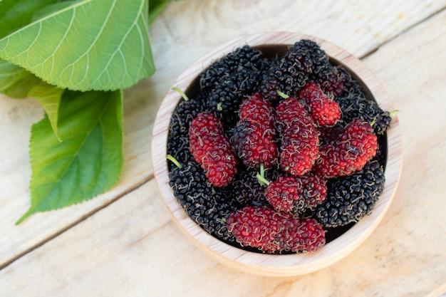 Mulberry agricoltura biologica frutta alta vitamina c dalla natura