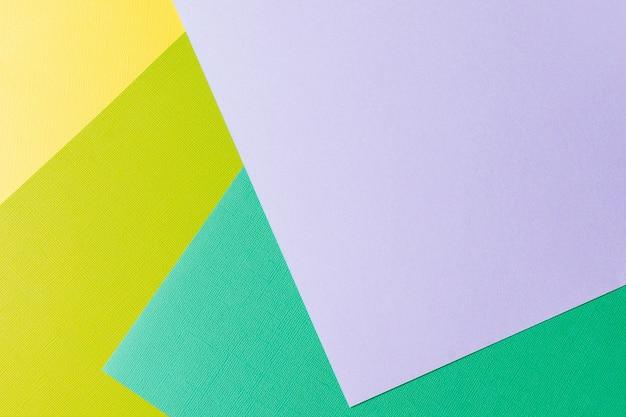 Multi colori pastello di carta astratti colorati con forma geometrica.