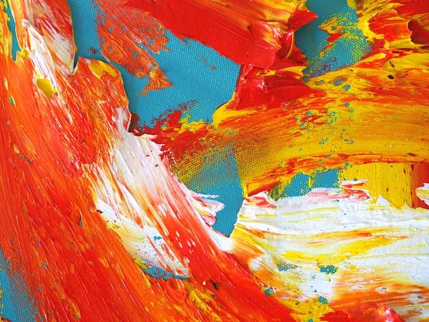 Multi colori variopinti astratti della pittura ad olio.