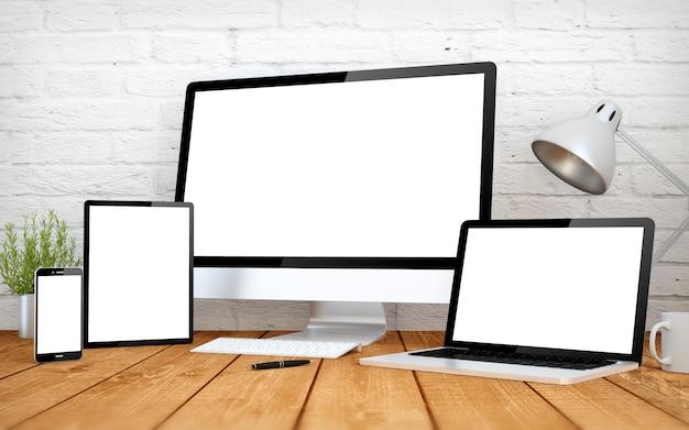 Multidispositivi a schermo bianco