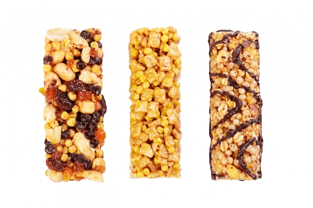 Munchies sani del granola su bianco