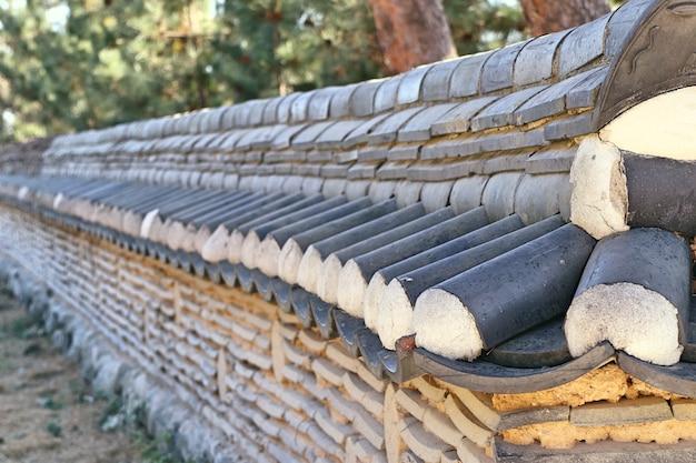 Muro di architettura tradizionale coreana