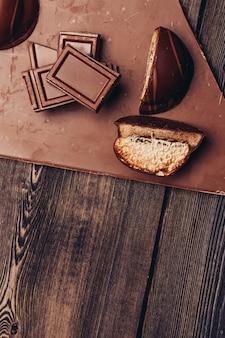 Muro di barrette di cioccolato