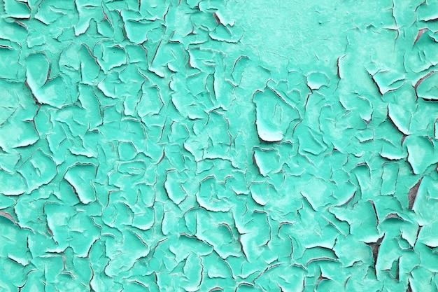 Muro di ferro dipinto acquamarina vintage