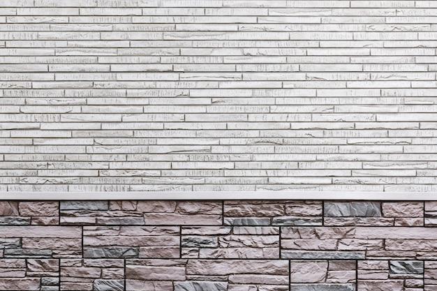 Muro di fondo di una casa moderna, decorato con piastrelle