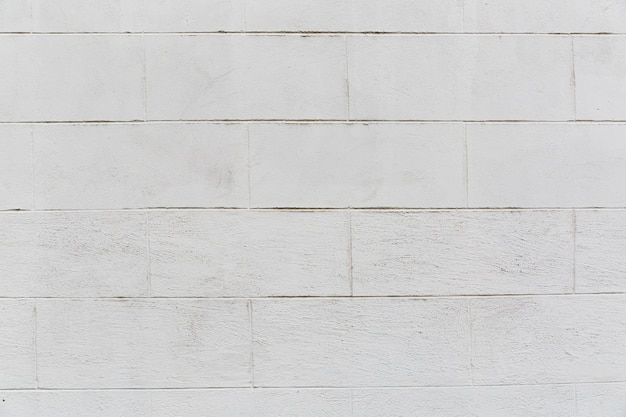 Muro di mattoni bianchi con aspetto grezzo