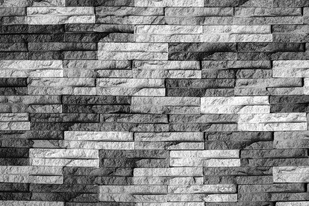 Muro di mattoni bianco e nero moderno