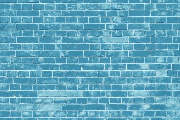 Muro di mattoni blu. loft interior design. vernice blu della facciata.