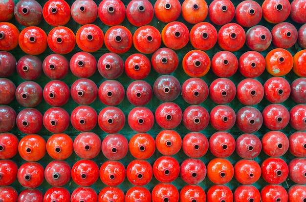 Muro di mattoni colorati arcobaleno (sfondo)