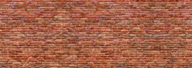 Muro di mattoni del grunge, vecchia vista panoramica della muratura
