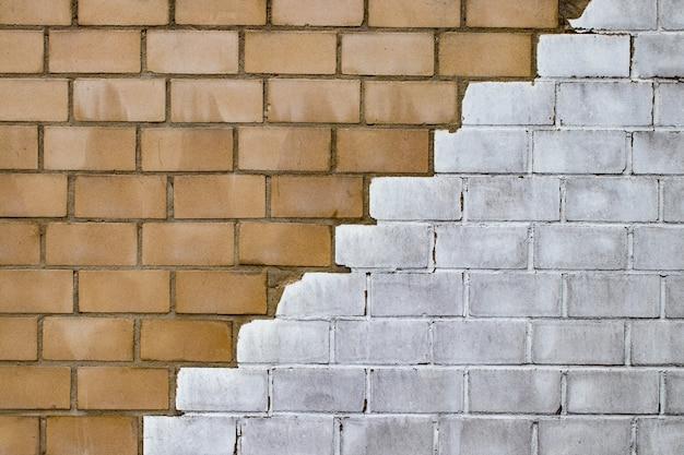 Muro di mattoni del grunge.