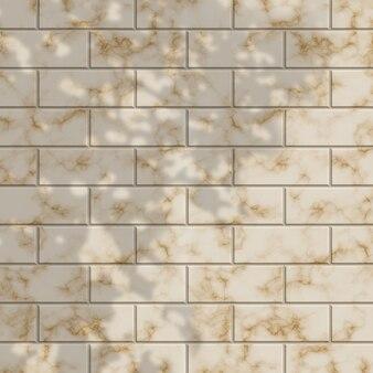 Muro di mattoni di marmo strutturato