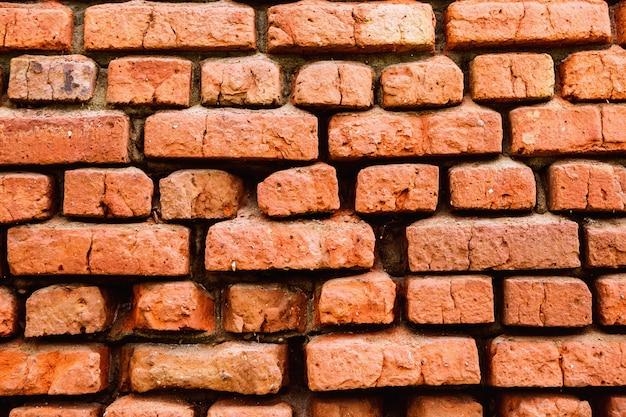 Muro di mattoni di sfondo. vecchia struttura del brickwall della casa
