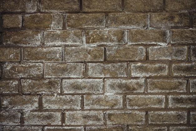 Muro di mattoni innevati